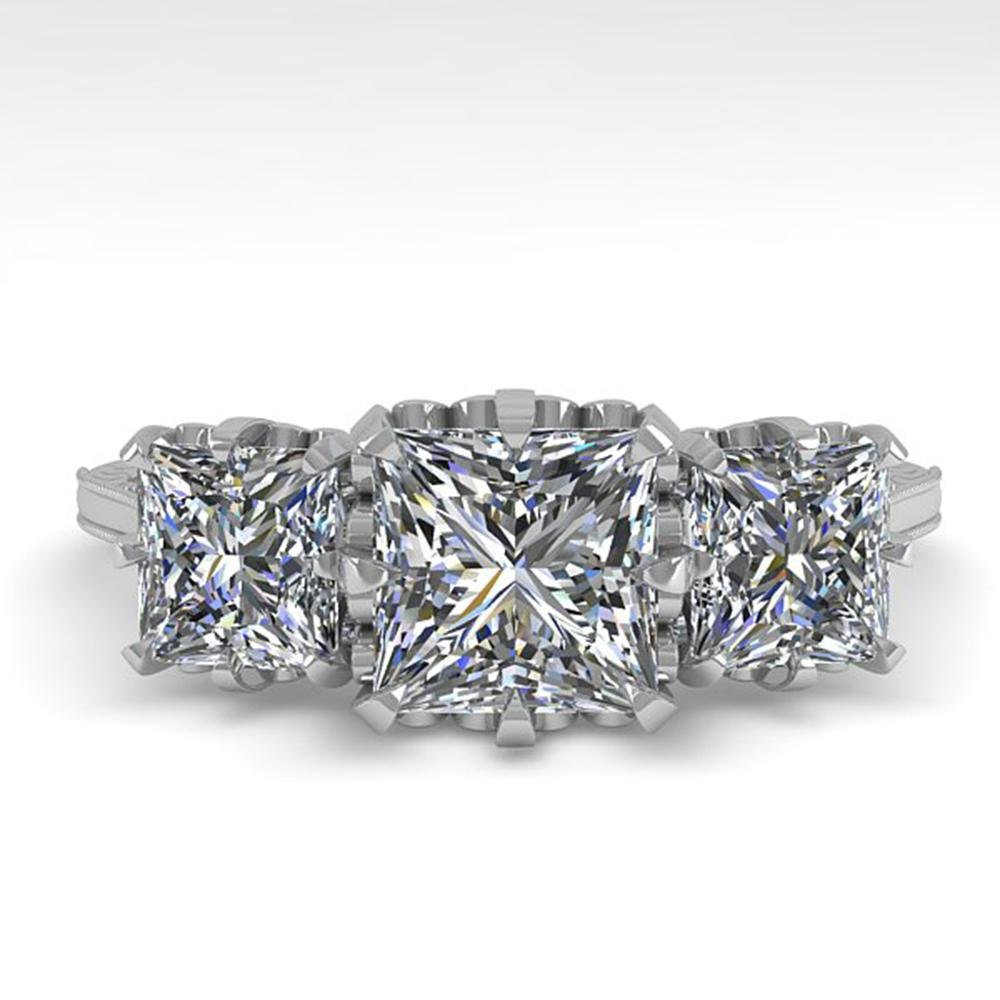2 ctw Certified VS/SI Princess Diamond Vintage Ring 14k