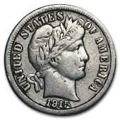 1915S Barber Dime VF