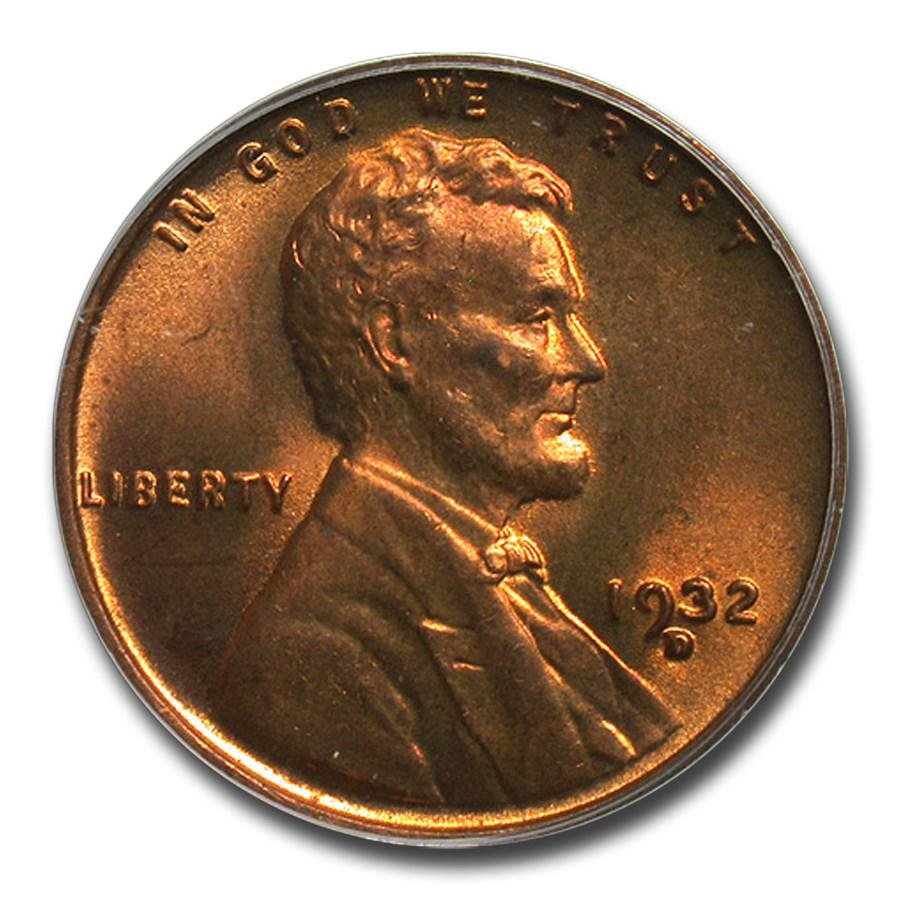 1932-D Lincoln Cent MS-66 PCGS (Red/Brown)