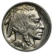 1931S Buffalo Nickel AU