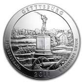 2011 5 oz Silver ATB Gettysburg National Military Park,