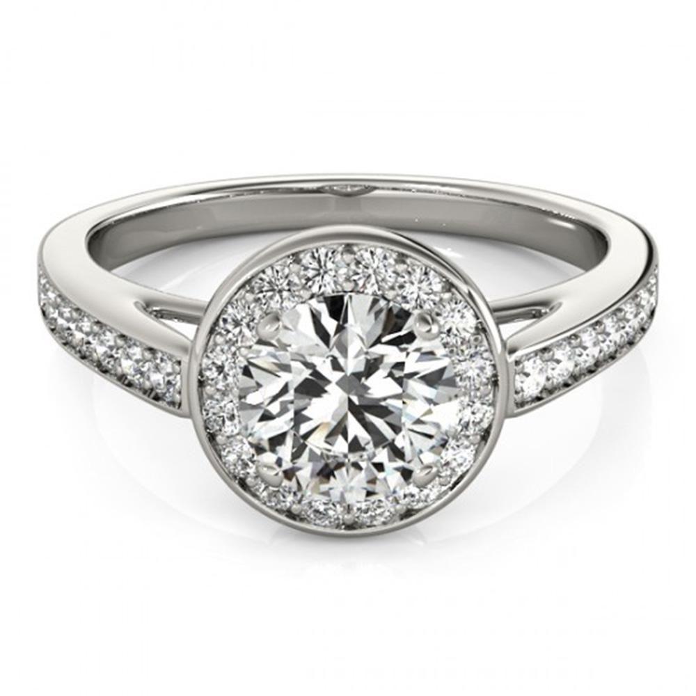 Natural 1.16 ctw Diamond Halo Ring 14k White Gold