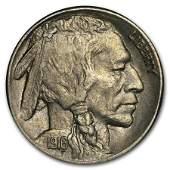 1916S Buffalo Nickel AU