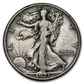 1921S Walking Liberty Half Dollar VF