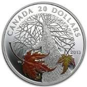 2013 Canada 1 oz Silver $20 Maple Canopy Autumn