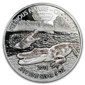 2018 Benin 5 oz Silver 5000 Francs Precious Nature