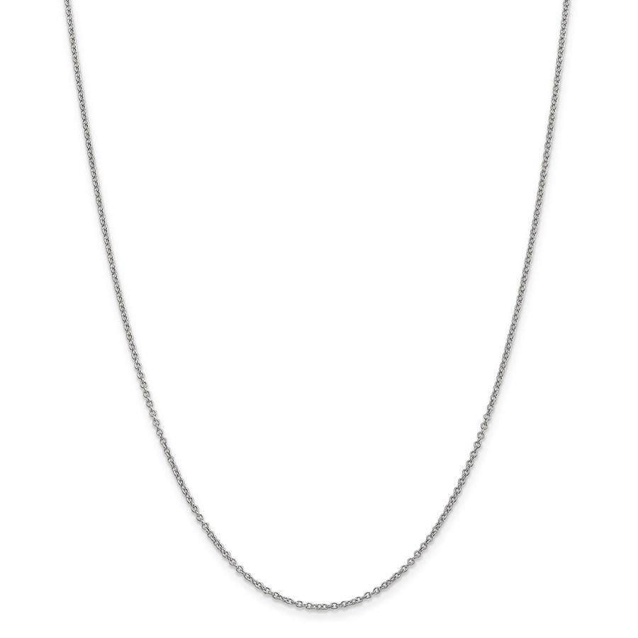 14k White Gold 1.4 mm Cable Chain - 22 in.