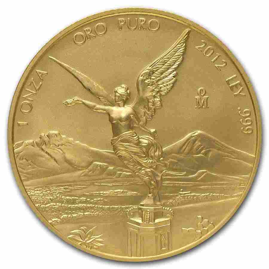 2012 Mexico 1 oz Gold Libertad BU