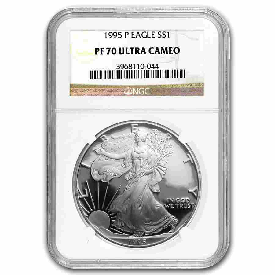 1995-P Proof Silver American Eagle PF-70 NGC (Registry