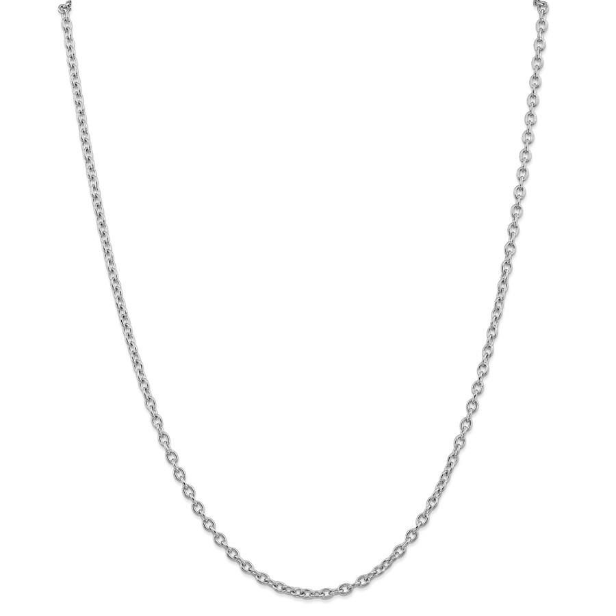 14k White Gold 3.2 mm Cable Chain - 22 in.
