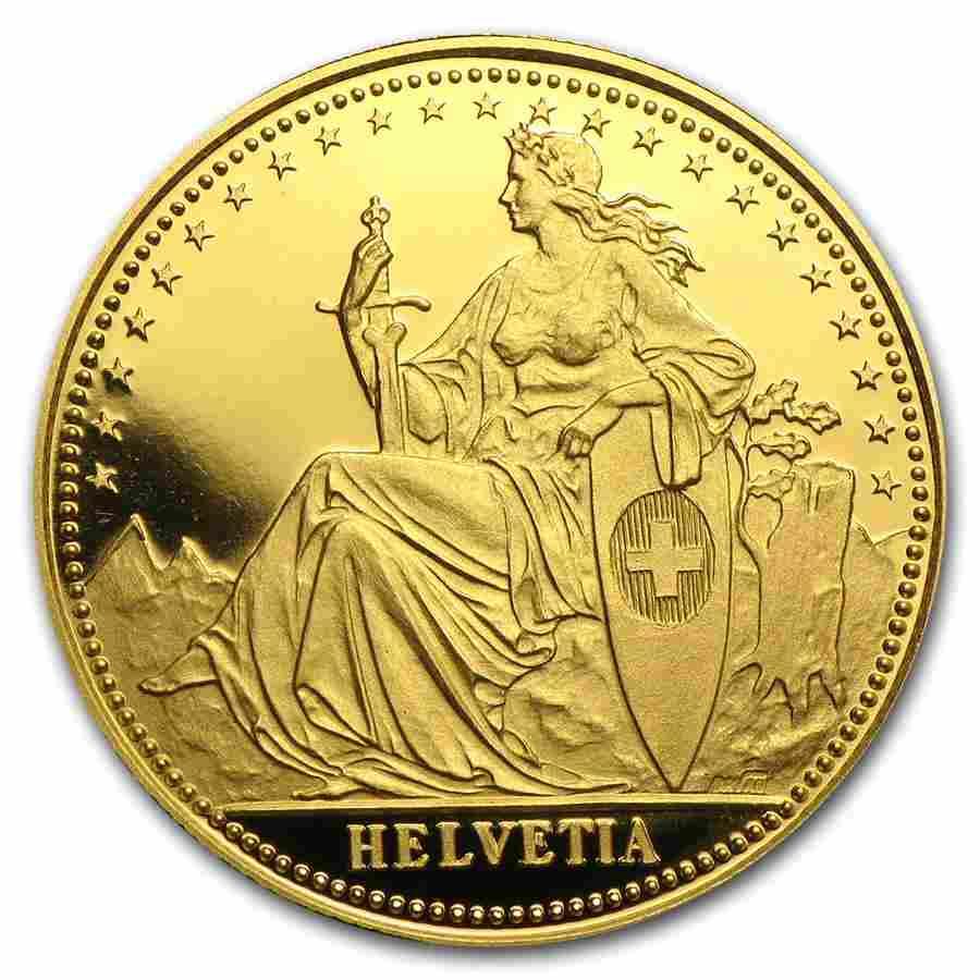 1986 Switzerland 1/4 Unze Gold Eternal Pact Proof