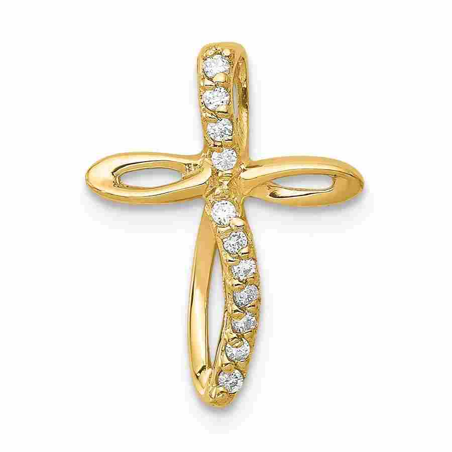 14k Yellow Gold Passion Cross Mounting