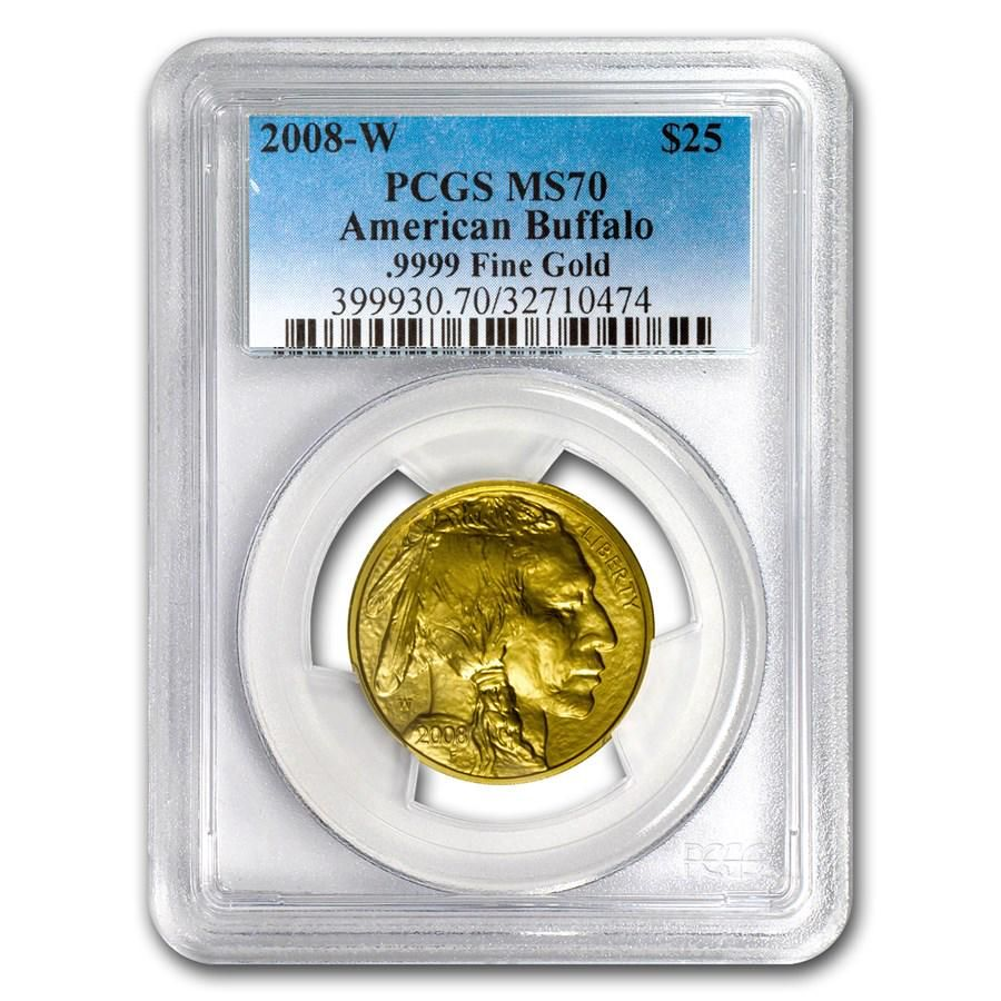 2008-W 1/2 oz Gold Buffalo SP/MS-70 PCGS
