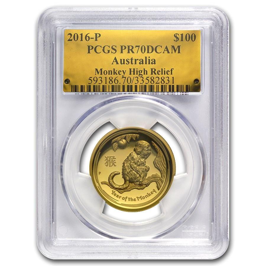 2016 Australia 1 oz Gold Monkey PR-70 PCGS (High