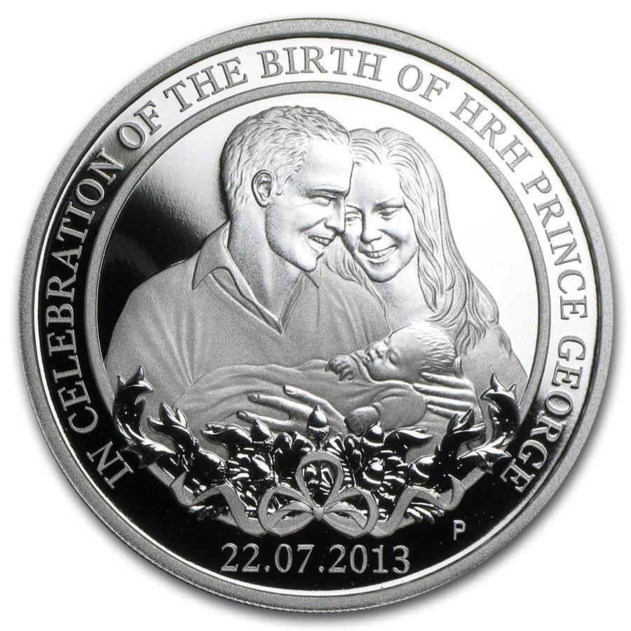2013 Australia 1 oz Silver Prince George Proof