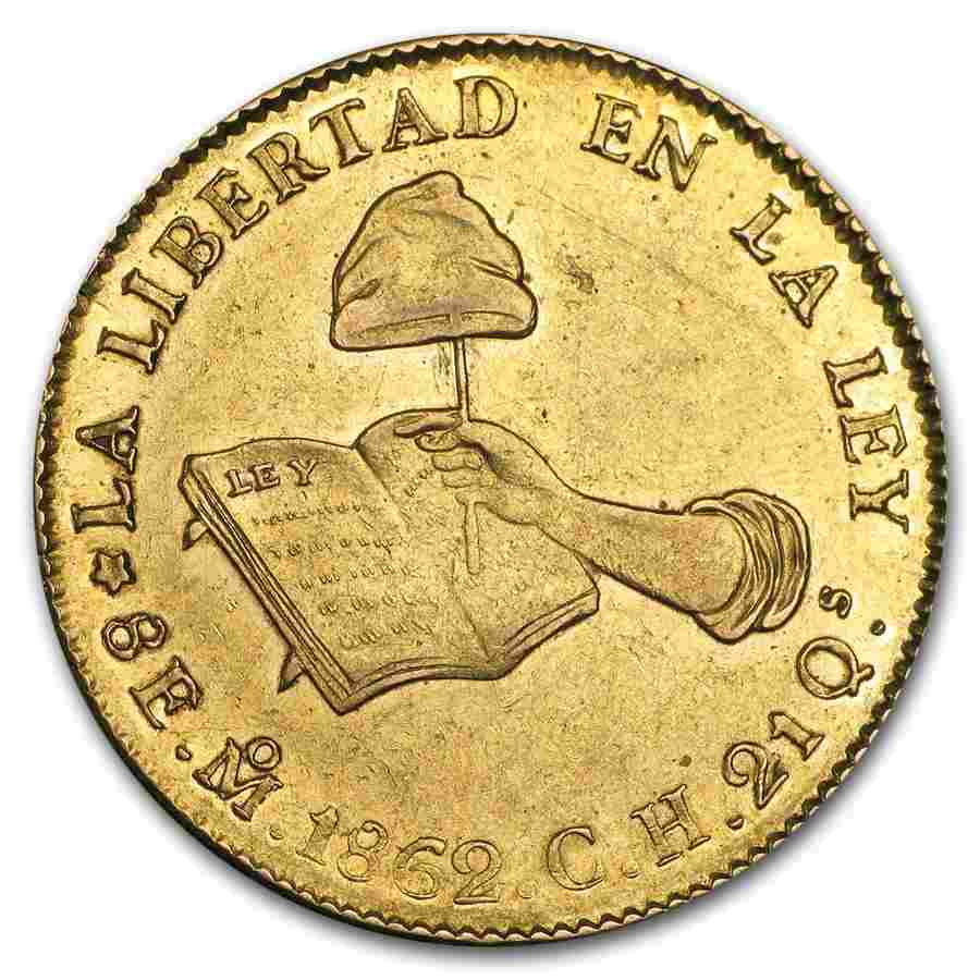 1832-1870 Mexico First Republic Gold 8 Escudos