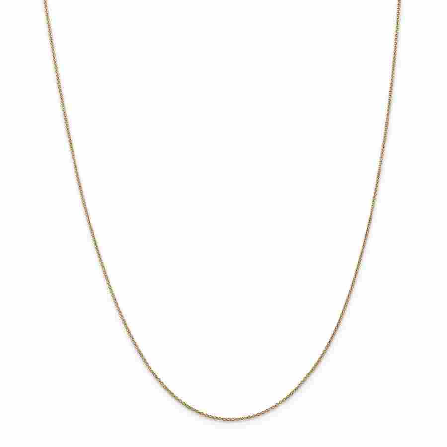 14k Yellow Gold .9 mm Cable Chain - 22 in.