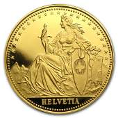 1986 Switzerland 14 Unze Gold Eternal Pact Proof