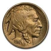 1914S Buffalo Nickel AU