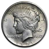 1921 Peace Dollar BU High Relief