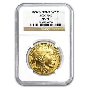 2008-W 1 oz Gold Buffalo MS-70 NGC