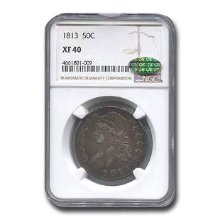 1813 Capped Bust Half Dollar XF-40 NGC CAC