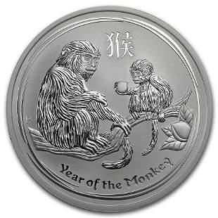 2016 Australia 5 oz Silver Lunar Monkey BU