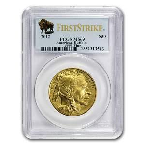 2012 1 oz Gold Buffalo MS-69 PCGS (FirstStrike®)