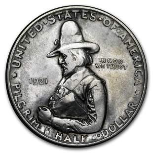 1921 Pilgrim Tercentenary Half Dollar (Low