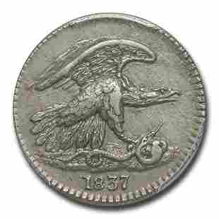 1837 Feuchtwanger One Cent Hard Times Token AU-55 PCGS