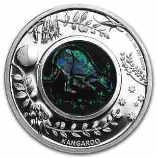 2013 Australia 1 oz Silver Opal Kangaroo Proof