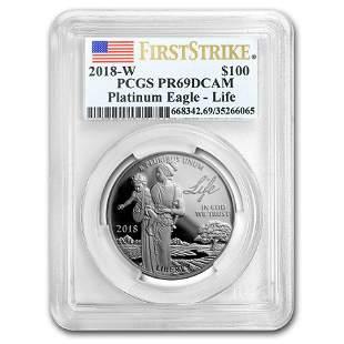 2018-W 1 oz Proof Platinum Eagle PR-69 PCGS