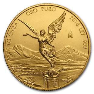 2018 Mexico 1/2 oz Gold Libertad BU