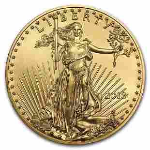 2018 1/10 oz Gold American Eagle BU