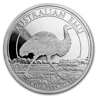 2018 Australia 1 oz Silver Emu Proof