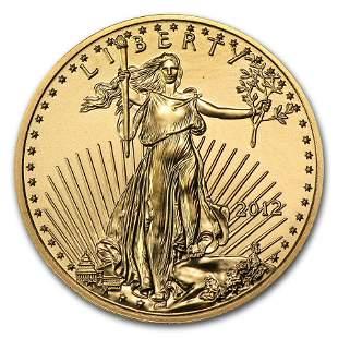 2012 1/4 oz Gold American Eagle BU