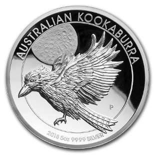 2018 Australia 5 oz Silver Kookaburra Proof (High