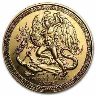 Isle of Man 1 oz Gold Angel BU/Proof (Random Year)