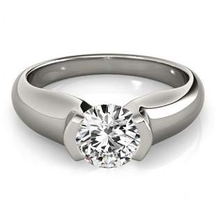 Natural 1 ctw Diamond Solitaire Ring 14k White Gold