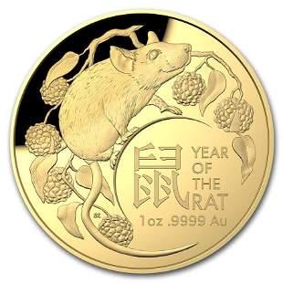 2020 Australia 1 oz Gold $100 Lunar Year of the Rat