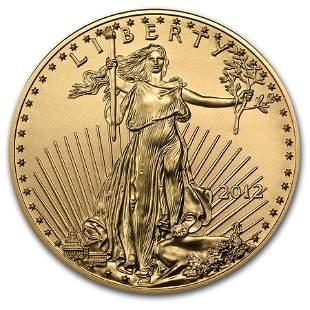 2012 1/2 oz Gold American Eagle BU