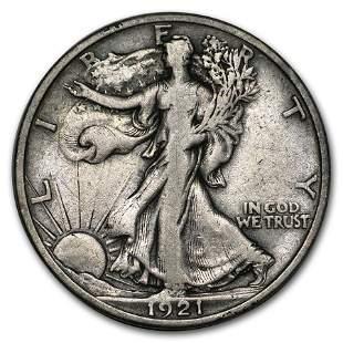 1921-S Walking Liberty Half Dollar VF