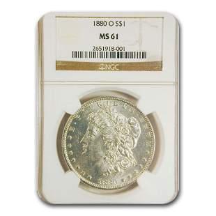 1880-O Morgan Dollar MS-61 NGC