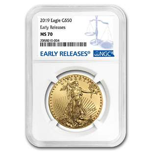 2019 1 oz Gold American Eagle MS-70 NGC (Early