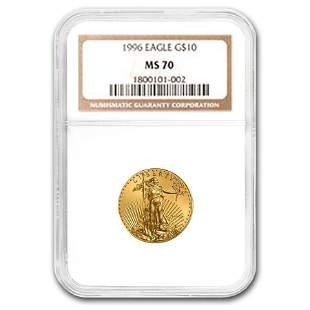1996 1/4 oz Gold American Eagle MS-70 NGC