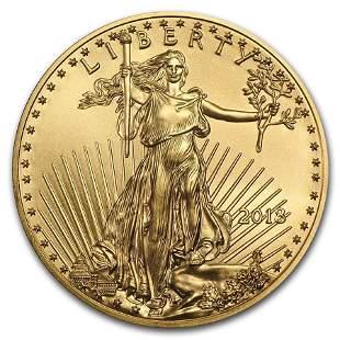 2018 1/4 oz Gold American Eagle BU