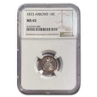 1873 Liberty Seated Dime MS-65 NGC (Arrows)