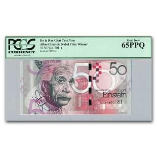 2011 Albert Einstein De la Rue Test Note, Gem New-65
