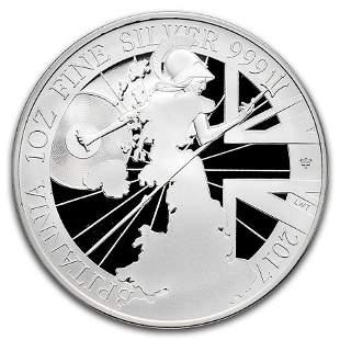 2017 Great Britain 1 oz Proof Silver Britannia