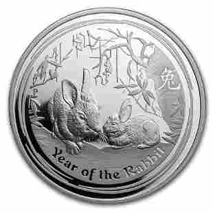 2011 Australia 1 oz Silver Year of the Rabbit Proof